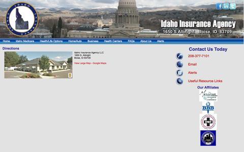 Screenshot of Maps & Directions Page idaho-insuranceagency.com - Directions    Idaho Insurance Agency - Idaho Insurance Agency - captured Oct. 6, 2014