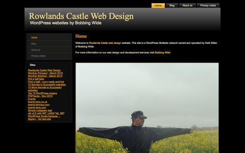 Screenshot of Home Page rowlandscastlewebdesign.com - Home - Rowlands Castle Web DesignRowlands Castle Web Design - captured Sept. 21, 2018
