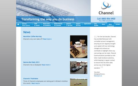 Screenshot of Press Page channelcomms.co.uk - Aastra & Avaya Phones for Business - captured Oct. 2, 2014