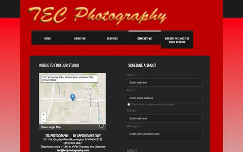 Screenshot of Privacy Page tecphotography.com - Contact Me - captured April 26, 2017