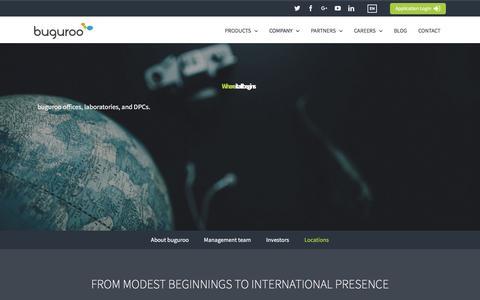 Screenshot of Locations Page buguroo.com - Locations – buguroo - captured Feb. 8, 2016