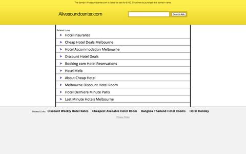 Screenshot of Login Page alivesoundcenter.com captured Sept. 30, 2014