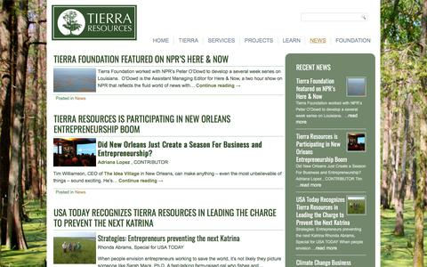 Screenshot of Press Page tierraresourcesllc.com - NEWS - Tierra Resources LLC - captured Nov. 13, 2017