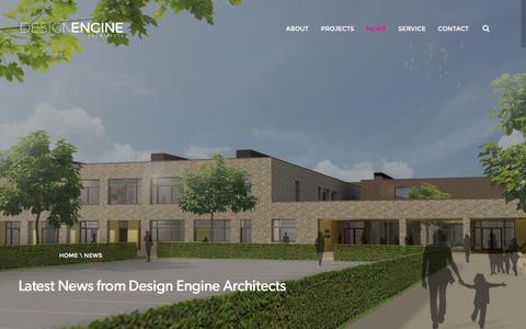Screenshot of Press Page designengine.co.uk - News - Design Engine Architects - captured Nov. 24, 2016