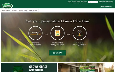 Screenshot of scotts.com - Lawn Care Products and Maintenance-Lawn Tips-Scotts | Scotts - captured July 2, 2017