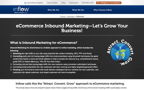 Screenshot of goinflow.com - Inbound Marketing for eCommerce - Inflow - captured March 20, 2016