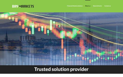 Screenshot of About Page baymarkets.com - ABOUT US - Baymarkets develops and delivers customised financial markets software - captured Oct. 10, 2017