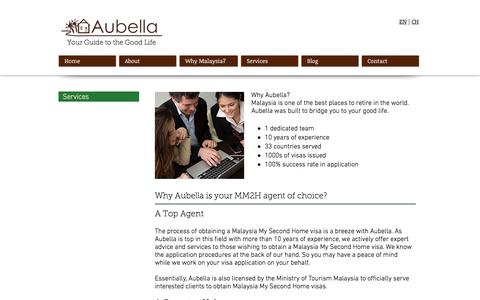 Screenshot of Services Page aubella.com - Aubella | Malaysia My Second Home Agent | Services - captured Nov. 21, 2016