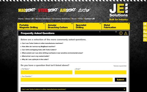 Screenshot of FAQ Page jeiuk.com - Frequently Asked Questions   JEI Solutions - captured Oct. 4, 2014