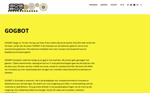 Screenshot of About Page gogbot.nl - About GOGBOT - captured Sept. 26, 2018