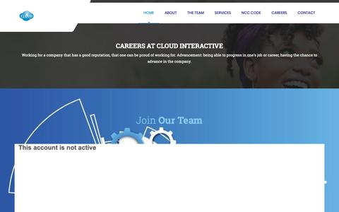 Screenshot of Jobs Page cloudinteractive.com.ng - Cloud Interactive | Home - captured Nov. 1, 2018