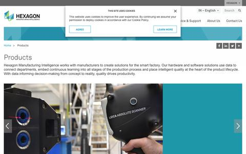 Screenshot of Products Page hexagonmi.com - Products | Hexagon Manufacturing Intelligence - captured Nov. 25, 2017