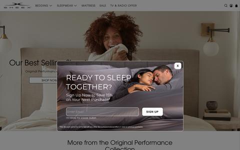 Screenshot of Home Page sheex.com - SHEEX® Official Site | Shop Now & Sleep Better | sheex.com - captured Sept. 19, 2019