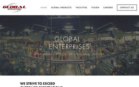 Screenshot of Home Page globalent.org - Global Enterprises - captured Jan. 29, 2016