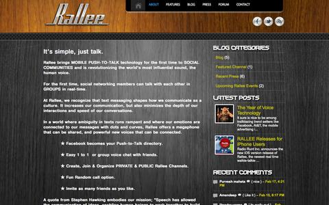 Screenshot of About Page rall.ee - ABOUT | RalleeRallee - captured Sept. 17, 2014