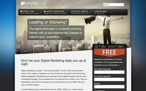Screenshot of Home Page digitalcusp.com - Digital Marketing Audit - Digital Cusp - captured Oct. 5, 2014