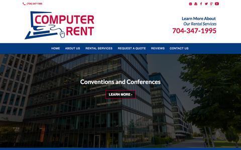 Screenshot of Site Map Page computerrent.com - Computer Rent: Charlotte, NC: Rental Office Equipment, Laptop - captured Sept. 30, 2014