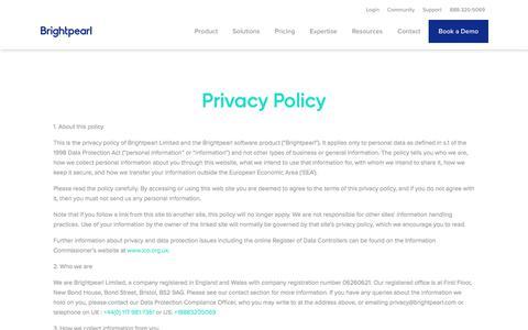 Privacy Policy | Brightpearl