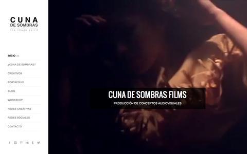 Screenshot of Home Page cunadesombras.com - CUNA DE SOMBRAS - FOTOGRAFIA - captured Sept. 17, 2015
