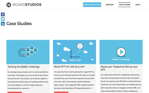 Screenshot of Case Studies Page boardstudios.com - Case Studies - Boardstudios - captured Oct. 10, 2017