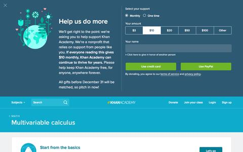 Multivariable Calculus | Khan Academy