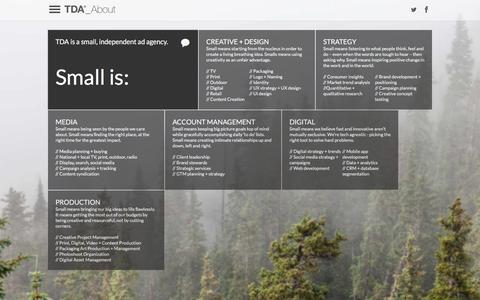 Screenshot of About Page tdaboulder.com - About | TDA_Boulder - captured Jan. 10, 2016