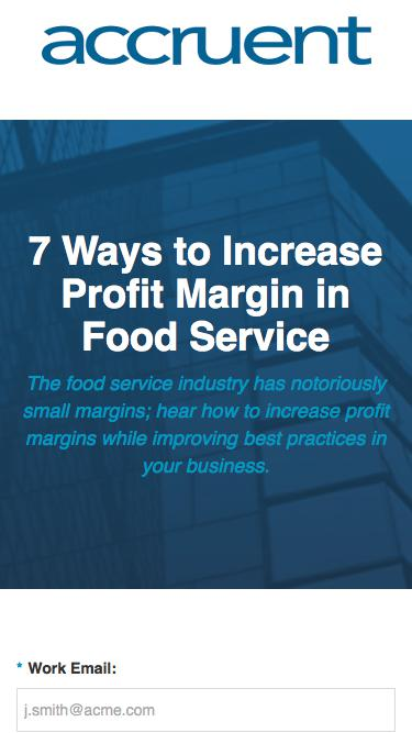 7 Ways to Increase Profit Margin in Food Service White Paper | Accruent