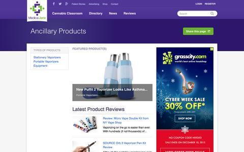 Screenshot of Products Page medicaljane.com - Vaporizer Reviews, Equipment Reviews, & Product Reviews - captured Nov. 23, 2015