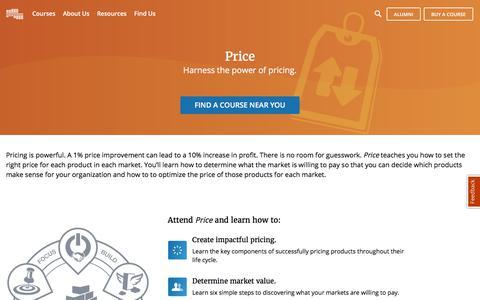 Price Course   Pragmatic Marketing