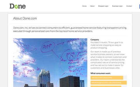 Screenshot of About Page done.com - About Done.com | Awesomely Simple - captured Feb. 9, 2016