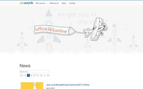 Screenshot of Press Page atwork-it.com - News - atwork information technology gmbh - captured Jan. 29, 2017