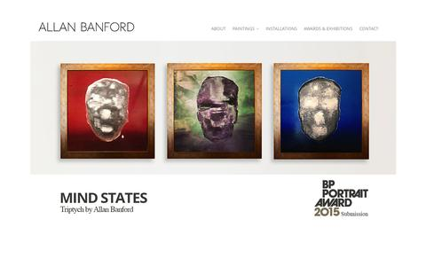 Screenshot of Home Page allanbanford.com - Allan Banford, Art, Fine Art, Contemporary Artist - captured Jan. 26, 2015