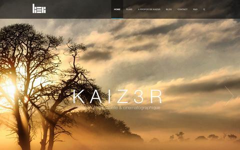 Screenshot of Home Page Contact Page kaiz3r.net - KAIZ3R Réalisateur infographiste FILM|CLIP|PUB - Montpellier        KAIZ3R - captured Sept. 30, 2014