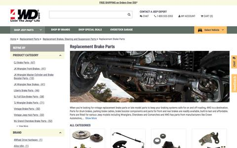 Replacement Brake Parts | 4wd.com