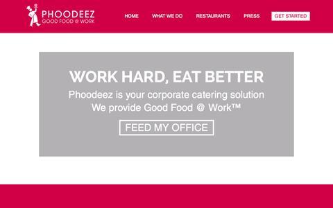 Screenshot of Locations Page phoodeez.com - Phoodeez - captured July 21, 2015