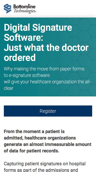 Digital Signature Software for Healthcare - Just what the doctor ordered
