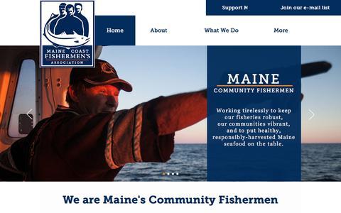 Screenshot of Home Page mainecoastfishermen.org - Maine Coast Fishermen's Association - captured Oct. 4, 2017