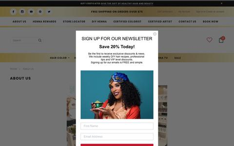 Screenshot of About Page hennasooq.com - Our Story - With only $150 to jump start Henna Sooq - captured Dec. 8, 2018