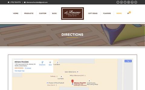 Screenshot of Maps & Directions Page diamanochocolate.com - Directions | Diamano Chocolate - captured Aug. 2, 2016