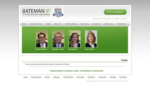 Screenshot of Team Page batemanip.com - Bateman IP Group - Utah Patent Attorney | People - captured Sept. 30, 2014