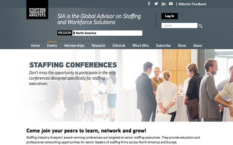 Screenshot of staffingindustry.com - Staffing Conferences – Staffing Industry Analysts - captured March 16, 2017
