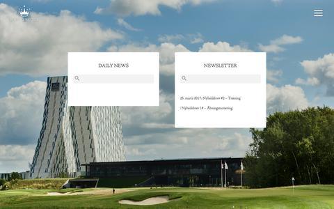 Screenshot of Press Page royalgolf.dk - News  ·  Royal Golf Club - captured Oct. 28, 2017