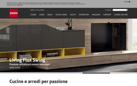 Screenshot of Home Page scavolini.com - Scavolini: Arredo Cucine Bagni e Living - captured Jan. 27, 2016