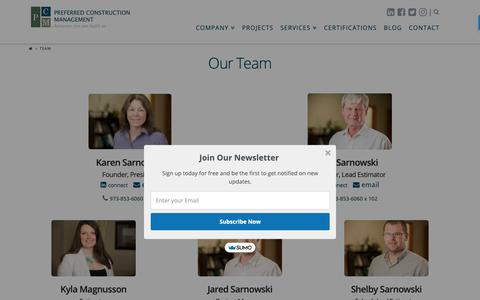 Screenshot of Team Page pcmcompany.com - Our Team of Construction Estimators, CPM Schedulers, & Expert Witnesses - captured Sept. 28, 2018