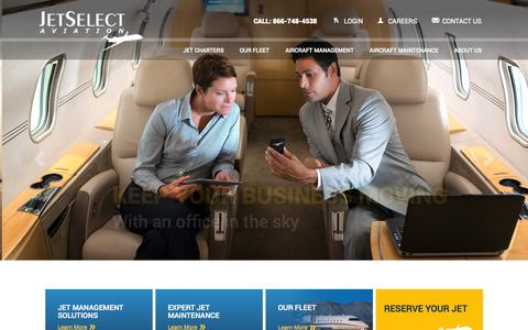 Screenshot of Login Page jetselectaviation.com - JetSelect Aviation - Private Charter Jet, Airplane Management, & Jet Maintenance - captured Oct. 2, 2014