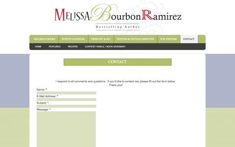 Screenshot of Contact Page misaramirez.com - Contact - captured Oct. 3, 2014