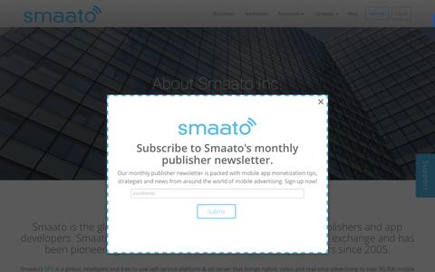 Screenshot of About Page smaato.com - About Smaato - captured Dec. 4, 2015