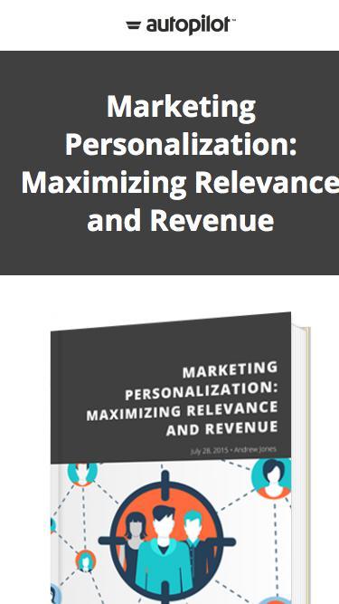 Marketing Personalization: Maximizing Relevance and Revenue | Autopilot