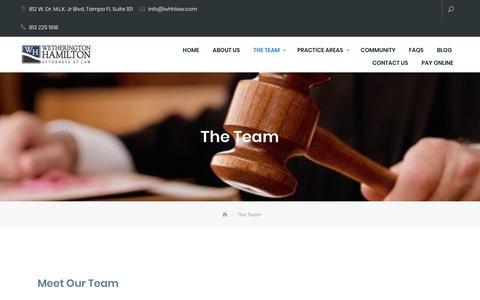 Screenshot of Team Page whhlaw.com - The Team - - captured Nov. 18, 2018