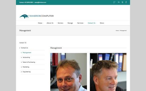 Screenshot of Team Page kimbrer.com - Management | Kimbrer Computer ApS - captured Oct. 3, 2014